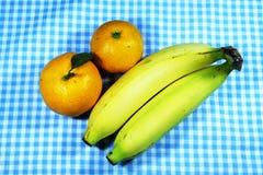 Naranja y plátano Foto de archivo