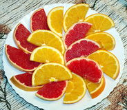 Naranja y pomelo Foto de archivo
