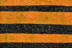 Naranja y rayas negras Fotografía de archivo libre de regalías