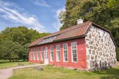 Naranjal de Hovdala Slott imágenes de archivo libres de regalías