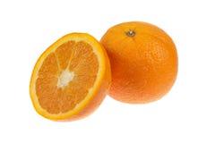Naranjas aisladas en blanco Foto de archivo libre de regalías