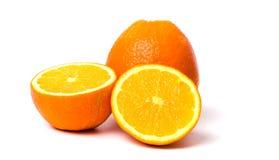 Naranjas aisladas en el fondo blanco Imágenes de archivo libres de regalías