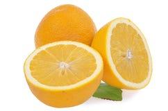 Naranjas aisladas en un blanco Imagen de archivo libre de regalías
