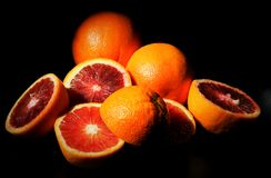 Naranjas cortadas imágenes de archivo libres de regalías