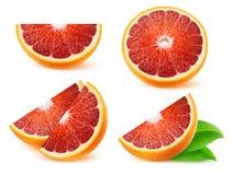 Naranjas de sangre aisladas Fotos de archivo