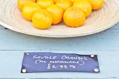 Naranjas de Sevilla imagenes de archivo