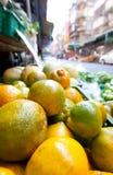 Naranjas del mercado de los granjeros fotografía de archivo