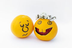 Naranjas divertidas Fotos de archivo