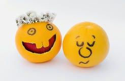 Naranjas divertidas Fotografía de archivo libre de regalías
