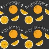 Naranjas en campo negro Imagenes de archivo