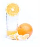 Naranjas en el fondo blanco Fotografía de archivo