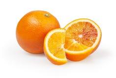 Naranjas en el fondo blanco Fotografía de archivo libre de regalías