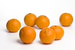 Naranjas en el fondo blanco Foto de archivo libre de regalías