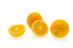 Naranjas en el fondo blanco Foto de archivo