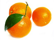 Naranjas en un blanco Foto de archivo libre de regalías