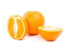 Naranjas en un fondo blanco Fotos de archivo