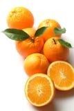 Naranjas en una cesta Fotografía de archivo