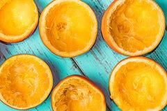 Naranjas exprimidas foto de archivo