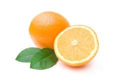 Naranjas maduras aisladas en blanco Imagen de archivo libre de regalías