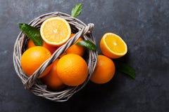 Naranjas maduras frescas fotografía de archivo libre de regalías