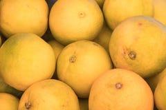 Naranjas para la venta en una tienda local de la fruta Imágenes de archivo libres de regalías