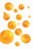 Naranjas que caen Fotografía de archivo libre de regalías