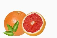 Naranjas rojas sicilianas en el backround blanco Foto de archivo libre de regalías