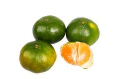 Naranjas verdes Fotografía de archivo libre de regalías