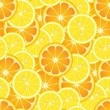 Naranjas y limones inconsútiles Imágenes de archivo libres de regalías