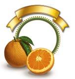 Naranjas y marco circular Fotografía de archivo libre de regalías