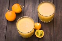 Naranjilla or Lulo Juice Stock Photos