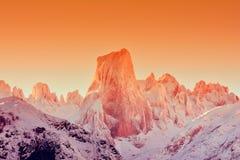 Naranjo de Bulnes at dawn in Picos de Europa. Royalty Free Stock Image