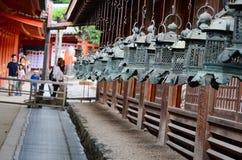 Naras Japan tempel Arkivbilder