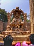Narasimha statue at hampi india stock photo