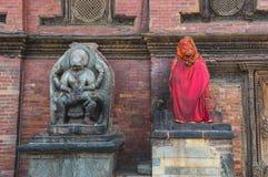 Narasimha y Hanuman Fotografía de archivo libre de regalías