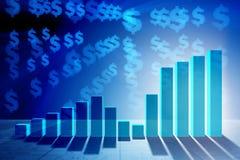 Narastające prętowe mapy w problemu ekonomicznego pojęciu - 3d rendering Obraz Stock