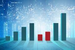 Narastające prętowe mapy w problemu ekonomicznego pojęciu - 3d rendering Zdjęcia Stock