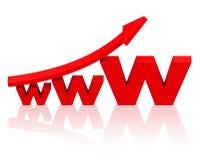 Narastający interneta biznes Zdjęcie Royalty Free