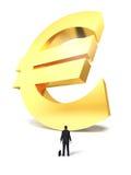 Narastający up pieniądze euro znak Obrazy Stock