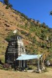 Narayan tempel i Sarigam. Arkivbilder