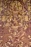 Narayana and Garuda carved doors Royalty Free Stock Images