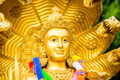 Narayana staty i chiangmaien Thailand Arkivfoton