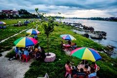 Narayani flod i färger Royaltyfri Foto