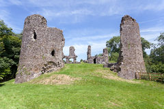 Narberth castle ruins stock photo