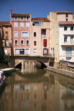 Narbonne canal Royalty Free Stock Photo
