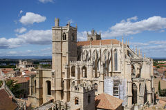 Narbonne Cathedral. A cathedral in Narbonne, France, that has never been finished due to political and economical reasons stock photography