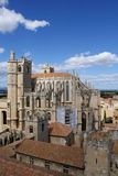 Narbonne Cathedral. Cathedral St-Just-et-St-Pasteur in Narbonne, France, seen from the tower of Archbishop's pallace royalty free stock photos
