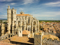 Narbonne Cathedral, France. The Saint-Just-et-Saint-Pasteur Cathedral in Narbonne, France was built between 1272 and 1332 Stock Photos