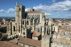 Narbonne Cathedral View royalty free stock photos