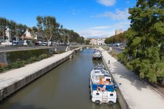 Narbonne city stock image